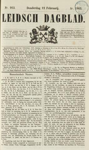 Leidsch Dagblad 1863-02-12