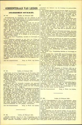Handelingen van de Raad 1929-02-25