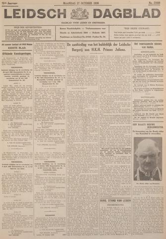 Leidsch Dagblad 1930-10-27