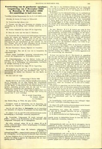 Handelingen van de Raad 1922-12-11
