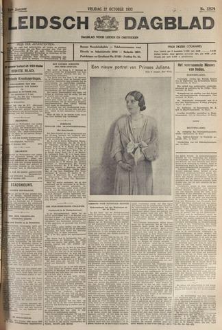 Leidsch Dagblad 1933-10-27