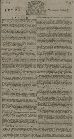 Leydse Courant 1739-08-19