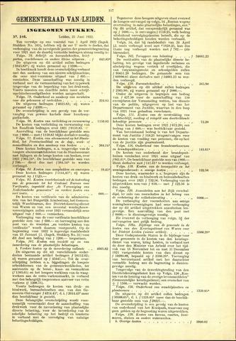 Handelingen van de Raad 1922-06-21