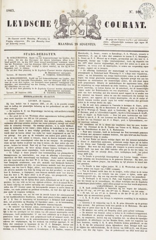 Leydse Courant 1865-08-28
