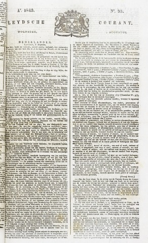 Leydse Courant 1843-08-09