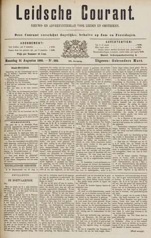 Leydse Courant 1885-08-31