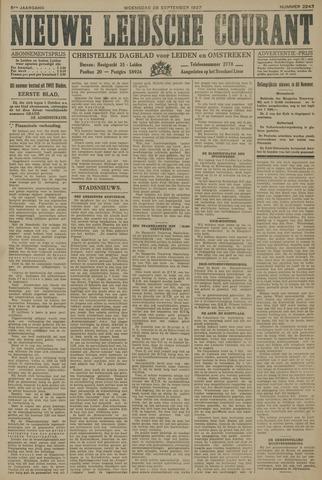 Nieuwe Leidsche Courant 1927-09-28