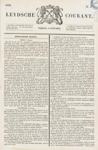 Leydse Courant 1852