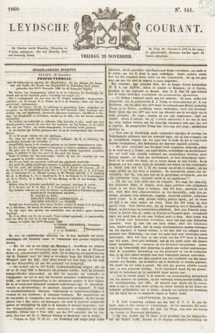 Leydse Courant 1860-11-23