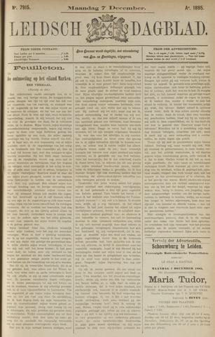 Leidsch Dagblad 1885-12-07