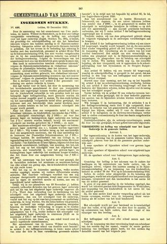 Handelingen van de Raad 1921-12-10