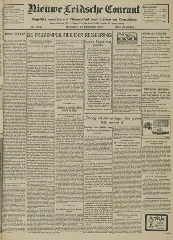 Nieuwe Leidsche Courant 1939-10-23
