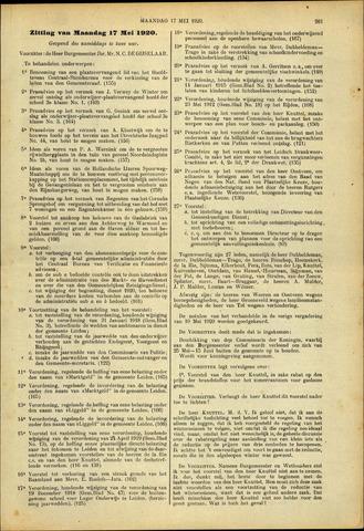 Handelingen van de Raad 1920-05-17