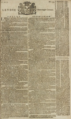 Leydse Courant 1771-12-02