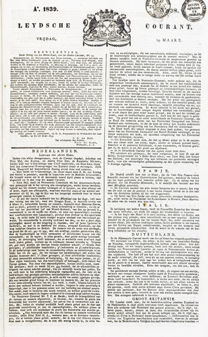 Leydse Courant 1839-03-29