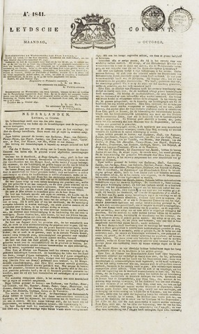 Leydse Courant 1841-10-11