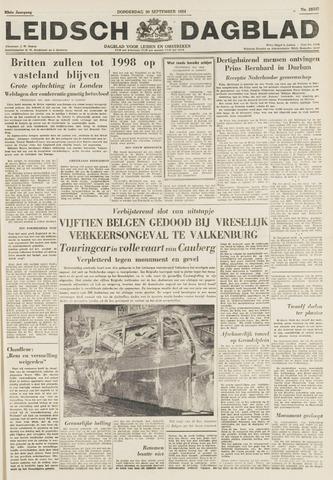 Leidsch Dagblad 1954-09-30