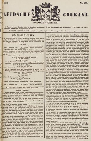 Leydse Courant 1884-09-03
