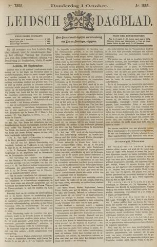 Leidsch Dagblad 1885-10-01