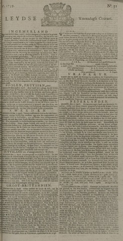 Leydse Courant 1739-04-29