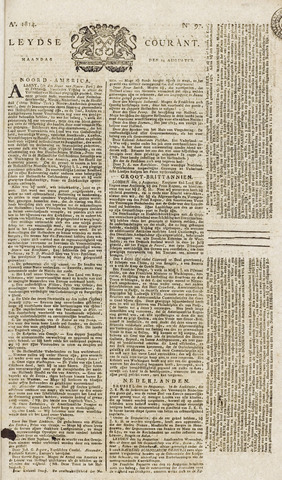 Leydse Courant 1814-08-15