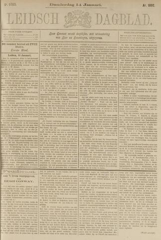 Leidsch Dagblad 1892-01-14