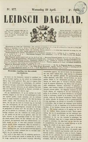 Leidsch Dagblad 1863-04-29