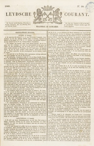 Leydse Courant 1860-01-23