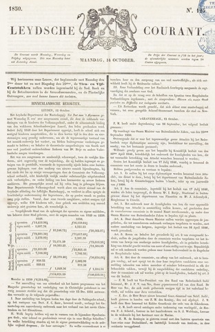 Leydse Courant 1850-10-14