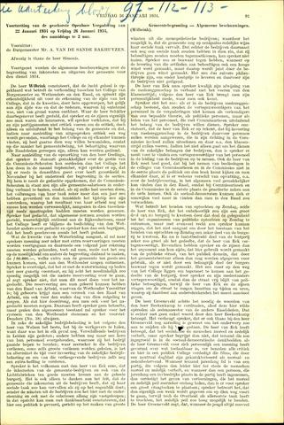 Handelingen van de Raad 1934-01-26