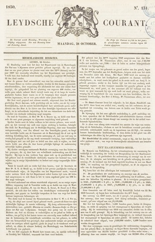 Leydse Courant 1850-10-28