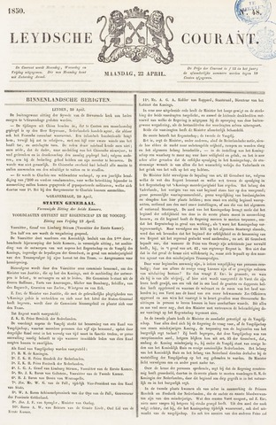Leydse Courant 1850-04-22