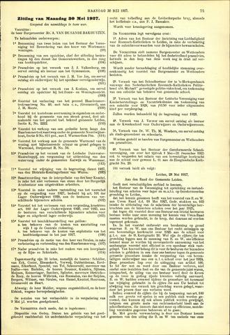 Handelingen van de Raad 1927-05-30