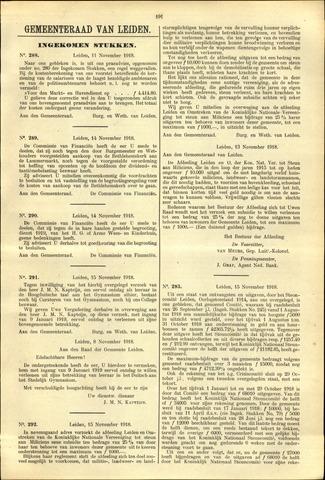 Handelingen van de Raad 1918-11-11