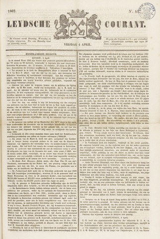 Leydse Courant 1862-04-04