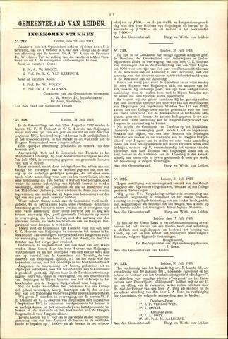 Handelingen van de Raad 1913-07-28
