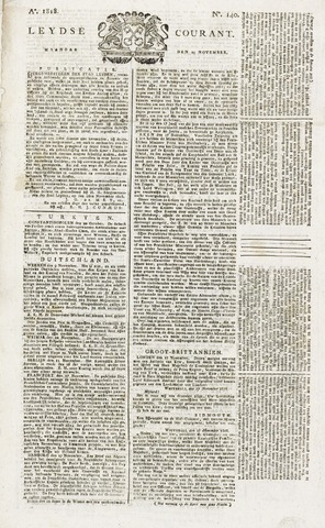 Leydse Courant 1818-11-23