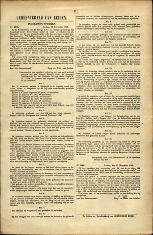 Handelingen van de Raad 1886-11-11