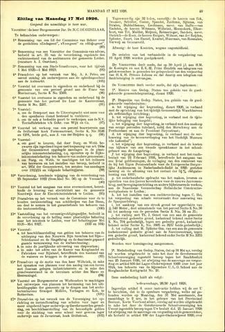 Handelingen van de Raad 1926-05-17