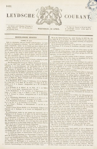Leydse Courant 1852-04-28