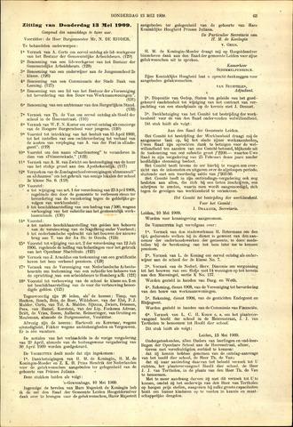Handelingen van de Raad 1909-05-13