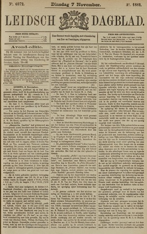 Leidsch Dagblad 1882-11-07