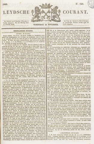 Leydse Courant 1860-11-21