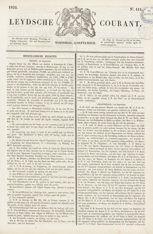 Leydse Courant 1852-09-15