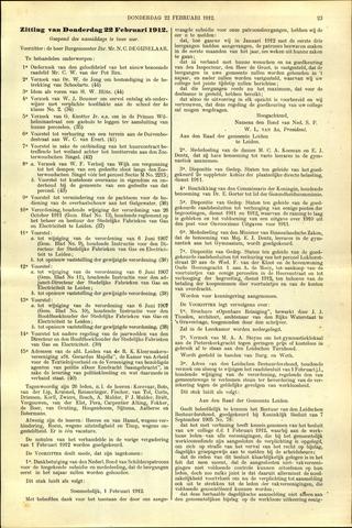 Handelingen van de Raad 1912-02-22