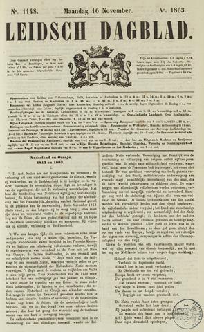 Leidsch Dagblad 1863-11-16