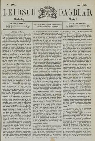 Leidsch Dagblad 1875-04-22