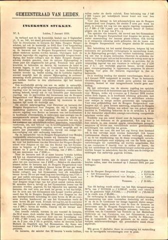 Handelingen van de Raad 1919-01-07