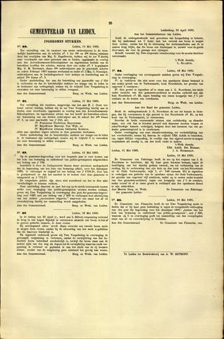 Handelingen van de Raad 1885-05-12