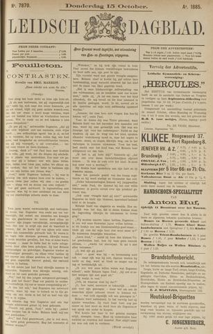 Leidsch Dagblad 1885-10-15